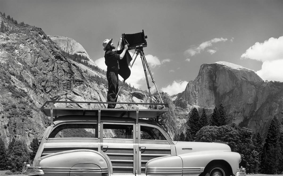 Ansel Adams in Yosemite Valley , Artuu